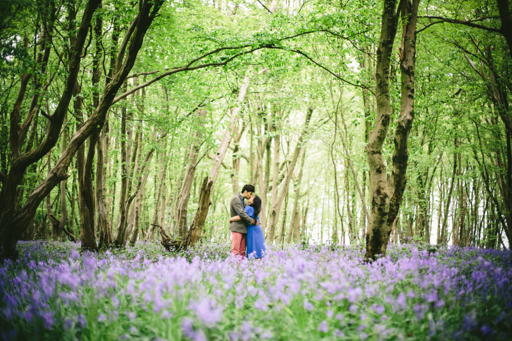 Bluebells St Albans Hertfordshire Engagement Photography
