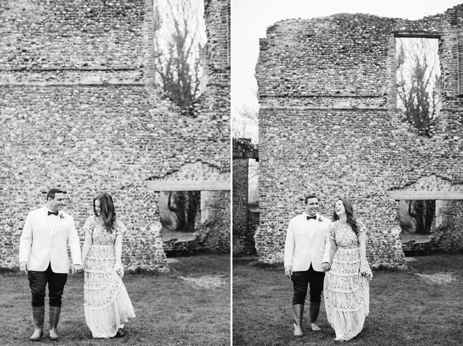 Sopwell Nunnery St Albans wedding couple portraits