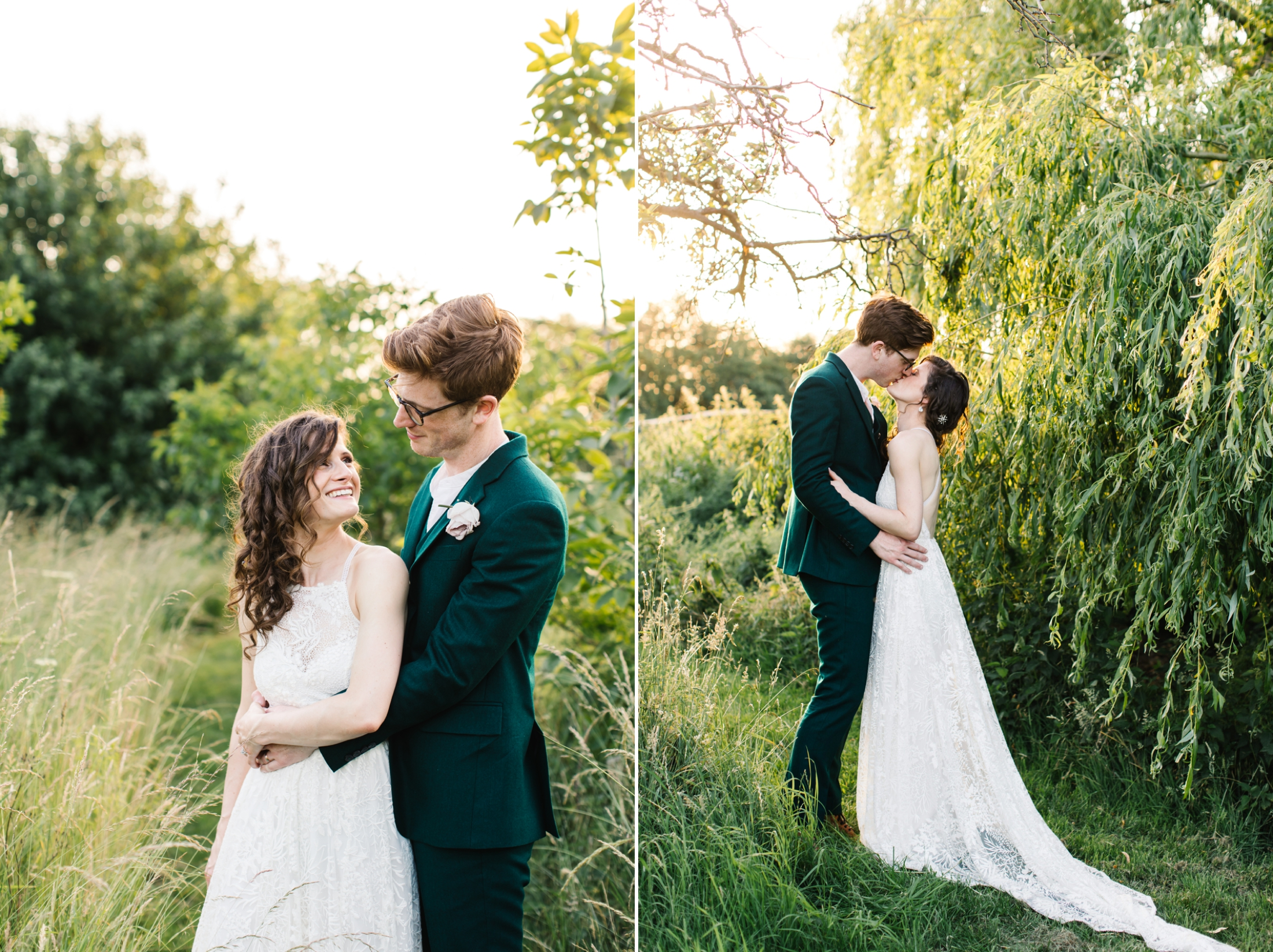 how to plan a back garden wedding couple portraits in a large back garden
