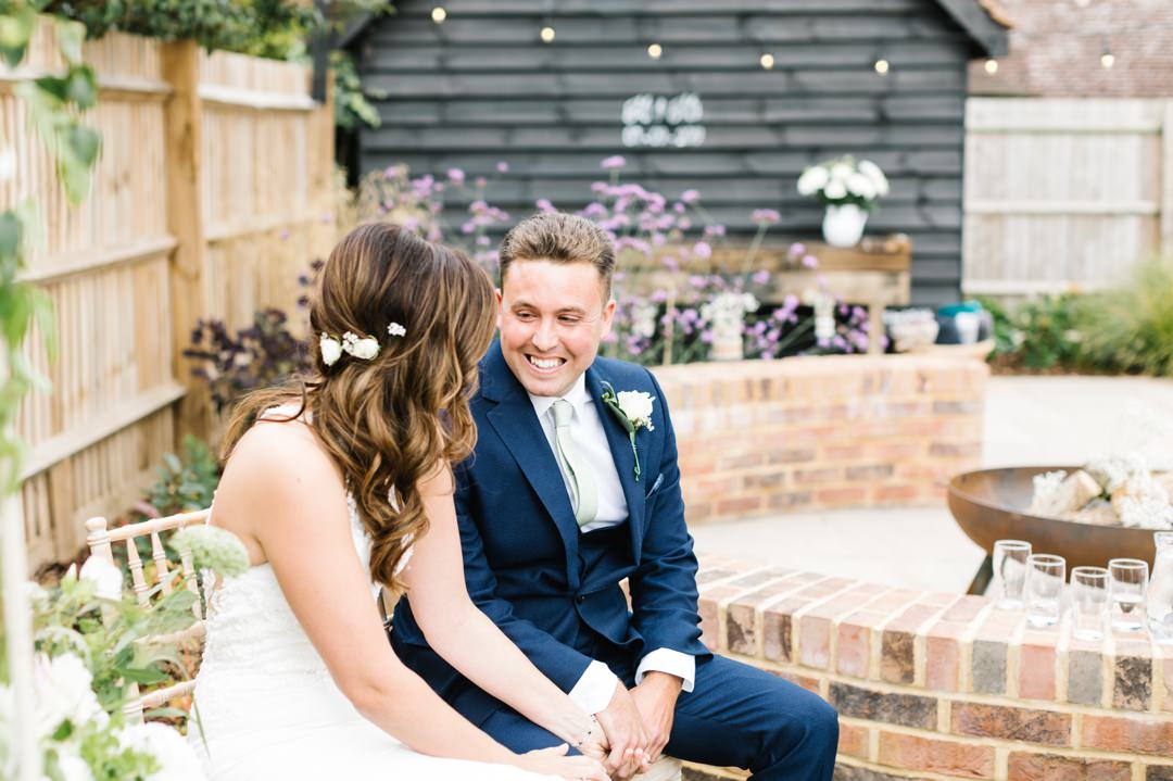 Dunstable Bedfordshire Wedding Photographer back garden wedding
